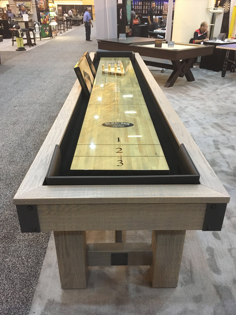 olhausen youngstown shuffleboard table detail