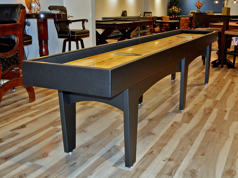 olhausen pavilion shuffleboard 12' black lacquer finish option