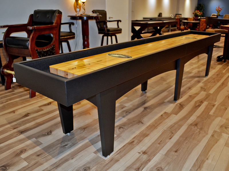 olhausen pavilion shuffleboard black lacquer finish 12'