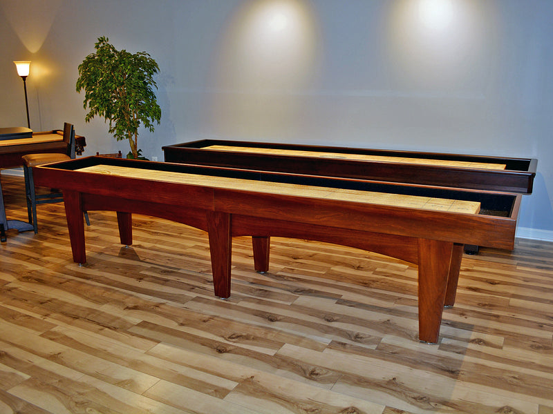 olhausen pavilion 12' shuffleboard table maple