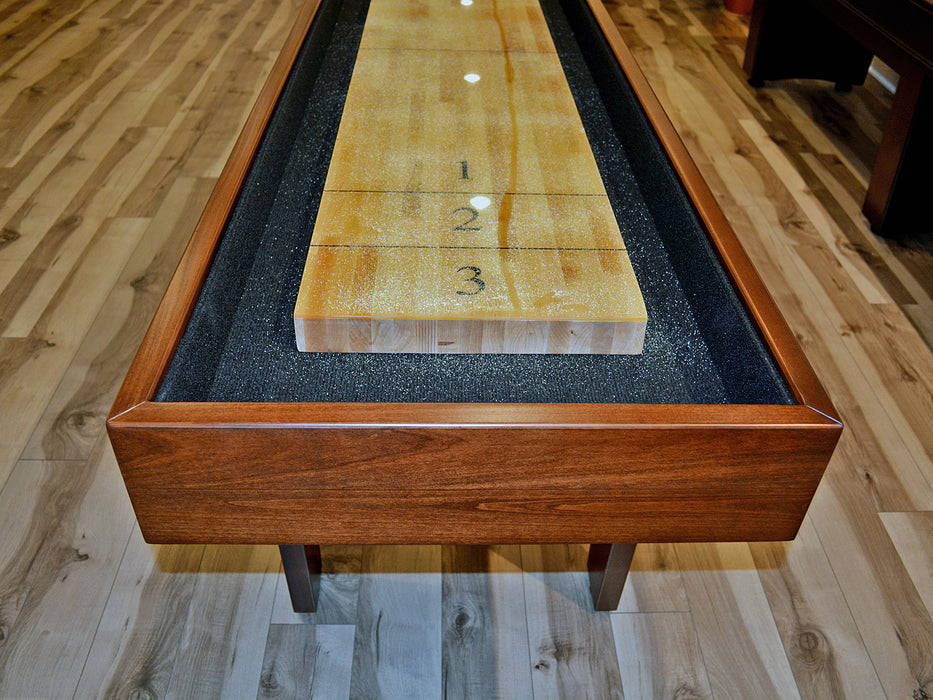 pavilion shuffleboard table playfield end view