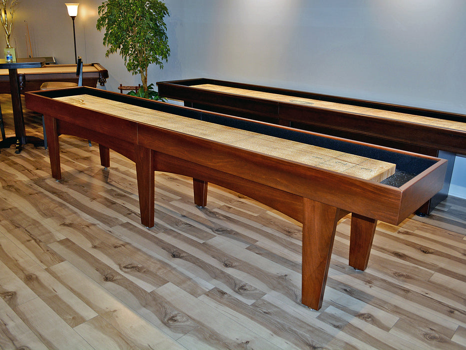 Pavilion shuffleboard table traditional mahogany finish