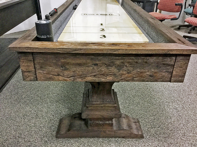 beaumont shuffleboard table end view