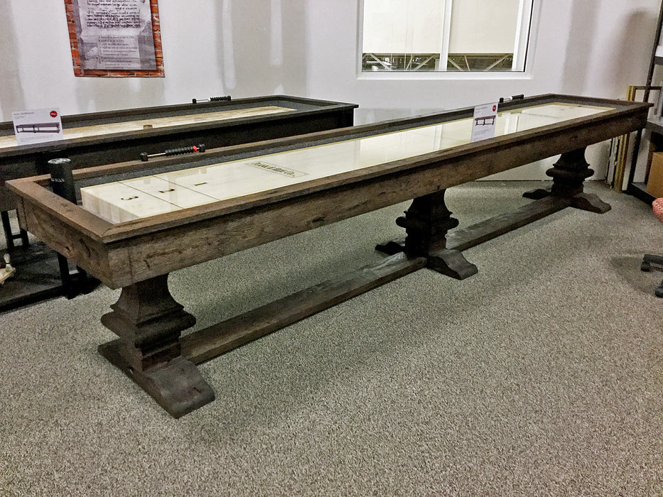 plank and hide beaumont shuffleboard table