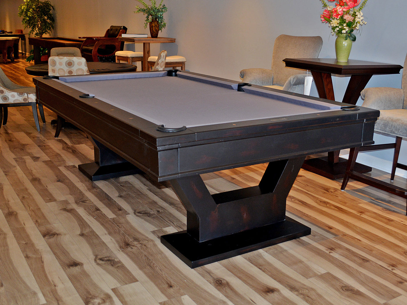 Plank and hide gaston pool table robbies billiards plank and hide gaston pool table coffee geotapseo Gallery