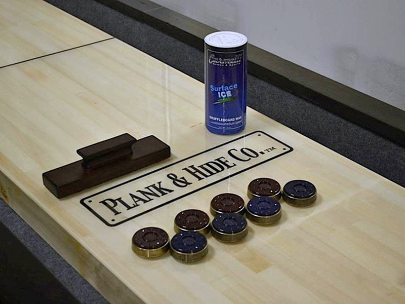 plank and hide gaston shuffleboard table play surface
