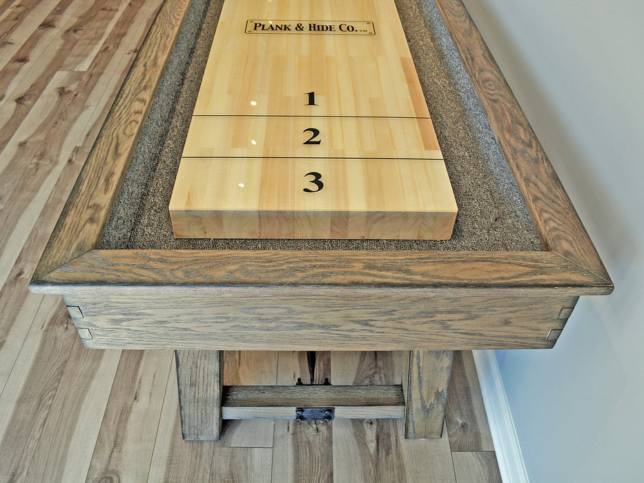 isaac shuffleboard table end