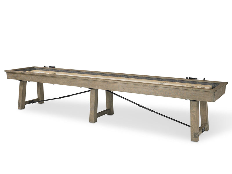 plank and hide Isaac shuffleboard table stock