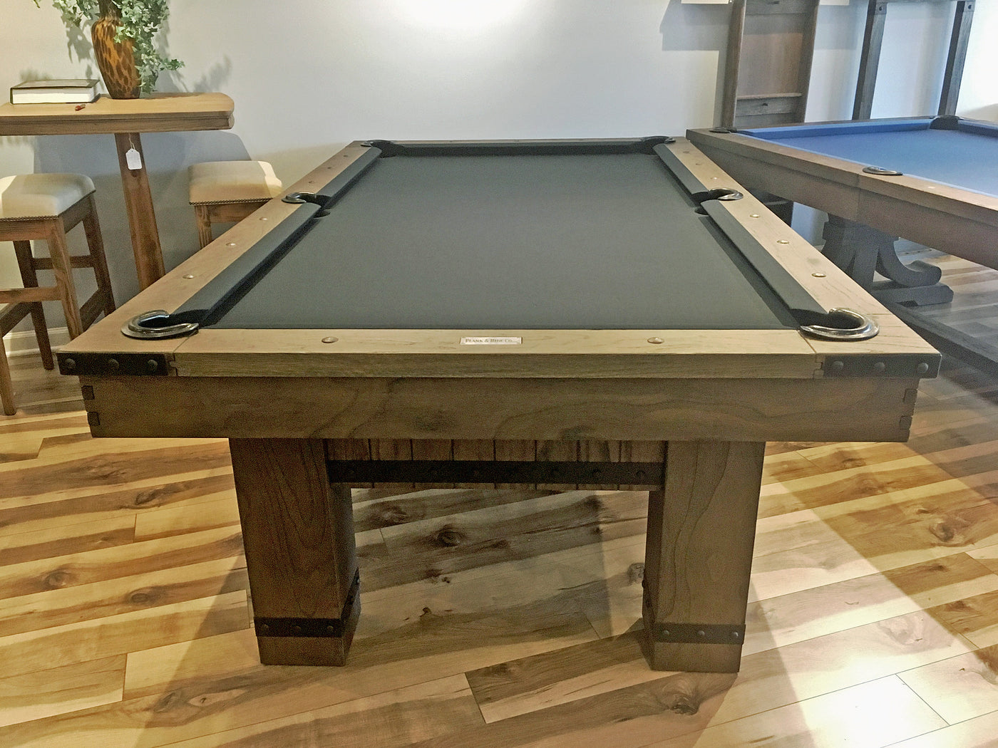 ... Plank And Hide Morse Pool Table Barnwood Showroom End ...