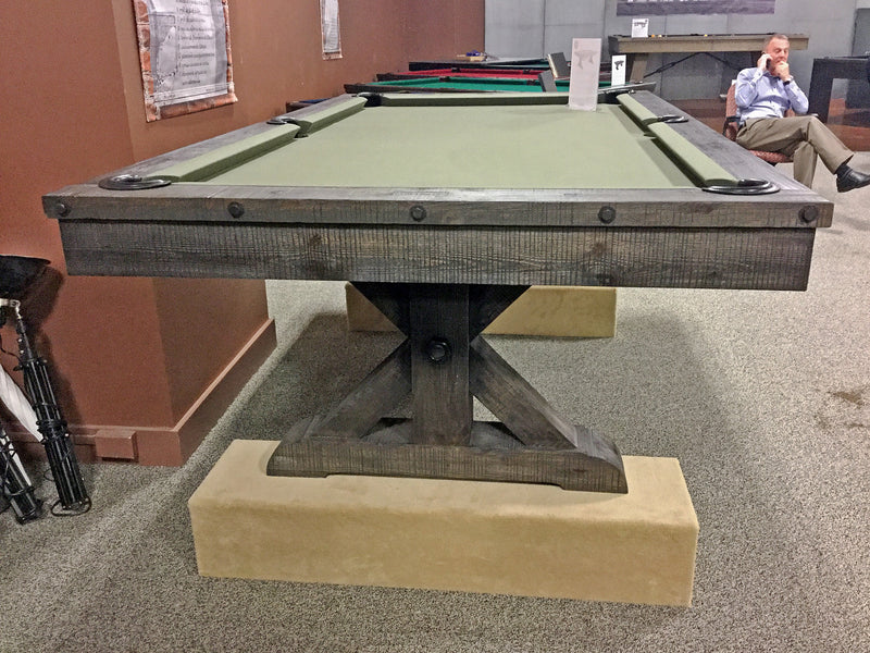 plank and hide otis pool table end