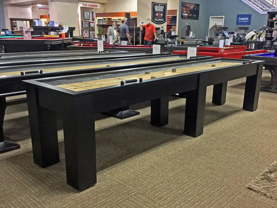 plank and hide parsons shuffleboard table black