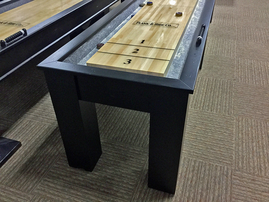 parsons shuffleboard table black detail