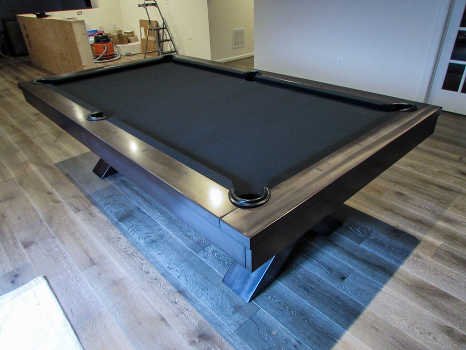 vox pool table room setting detail grey