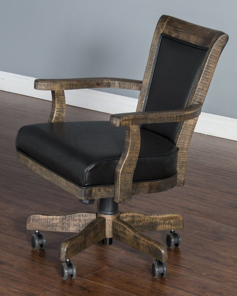 Rustic Poker Table Set game chair