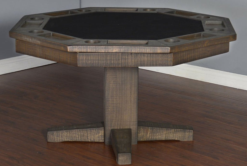 Plank And Hide Rustic Poker Table Robbies Billiards