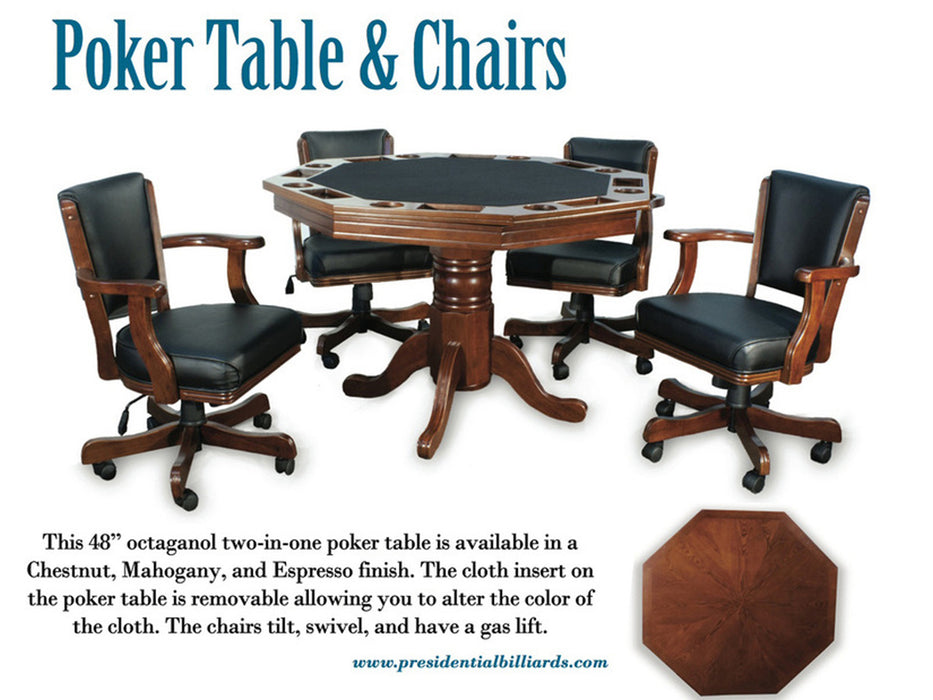Presidential Poker Dining Game Table
