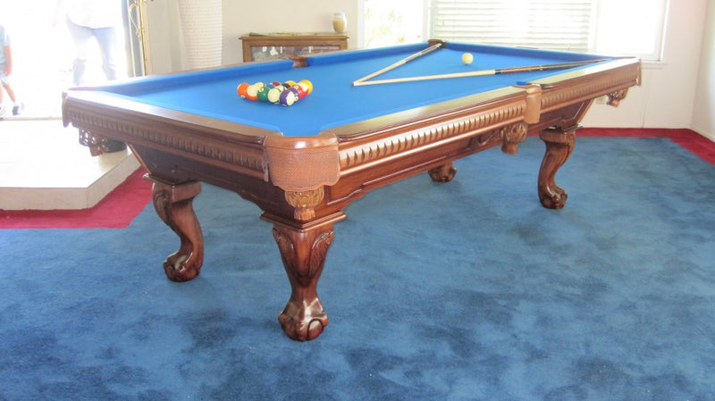cape town pool table chestnut finish room