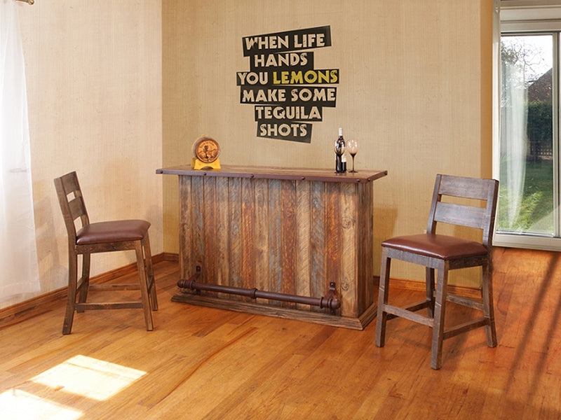 restoration style home bar