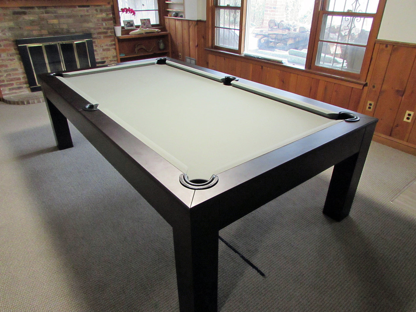 Robbies billiards modern dining pool table for How to build a billiard table
