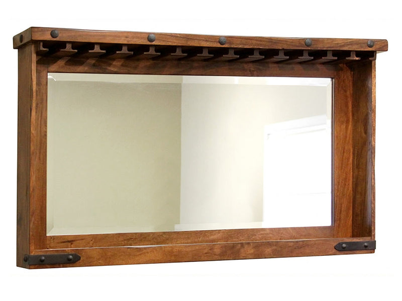 rustic modern home bar back bar mirror