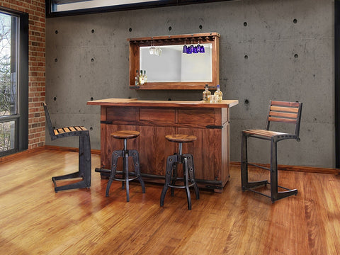 Rustic Modern Home Bar Front
