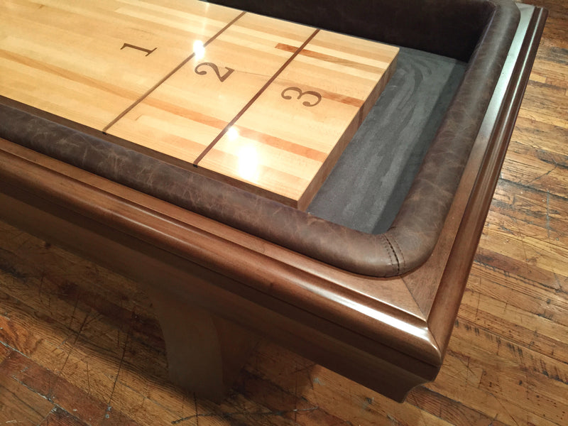 California House City Shuffleboard Table detail