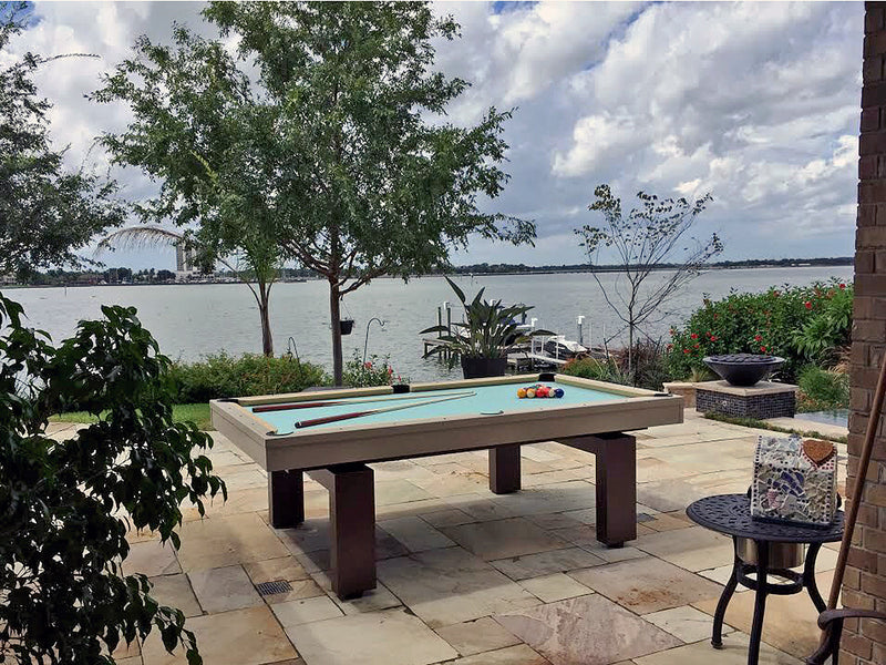 South Beach outdoor pool table brown
