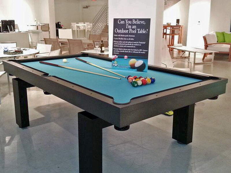 South Beach outdoor pool table showroom