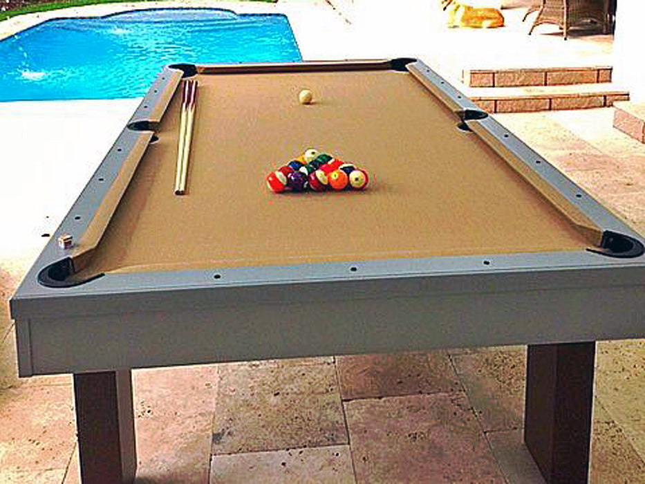 South Beach outdoor pool table end