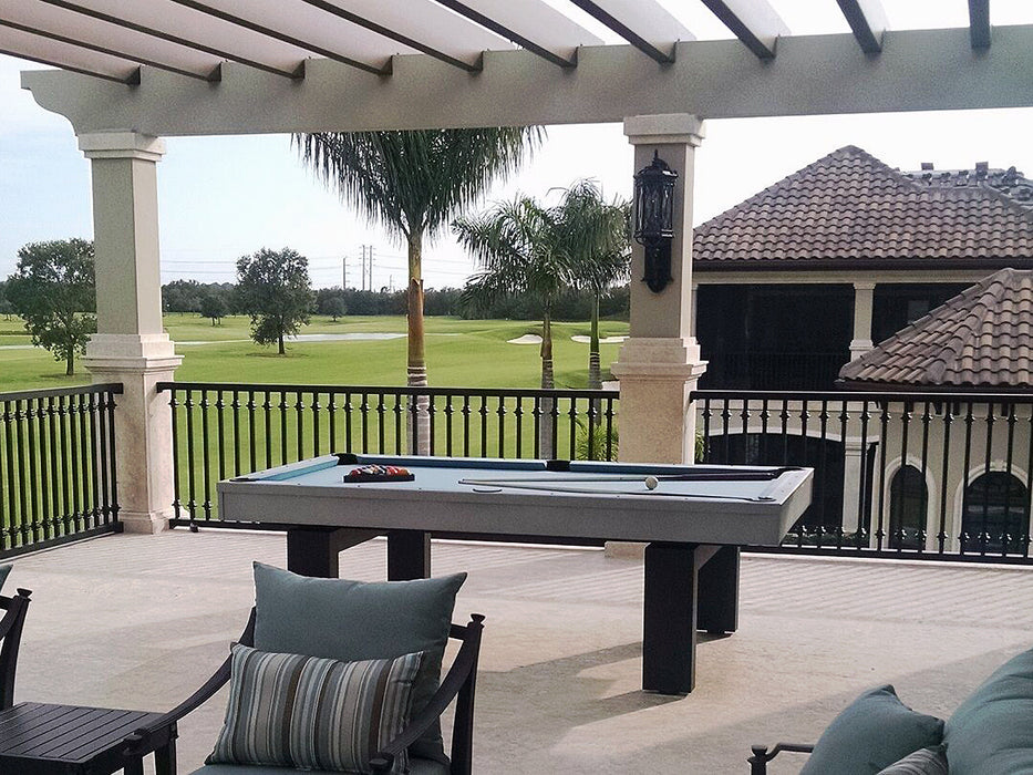 South Beach outdoor pool table silver 2