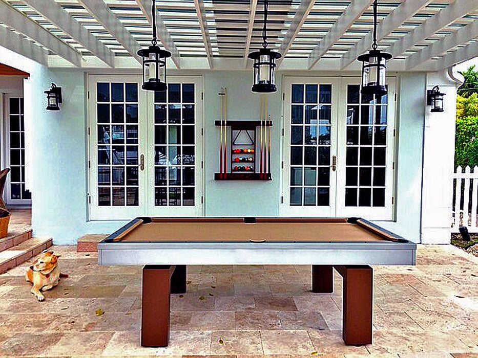 South Beach outdoor pool table silver