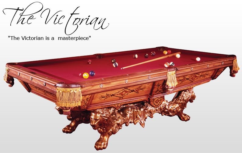 ... Golden West Victorian Pool Table Stock