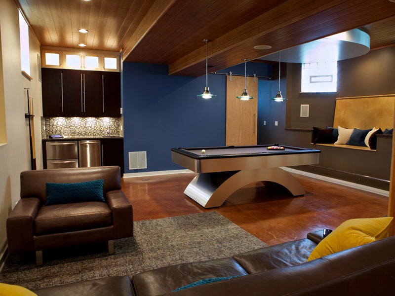 waterfall pool table room condo room 2