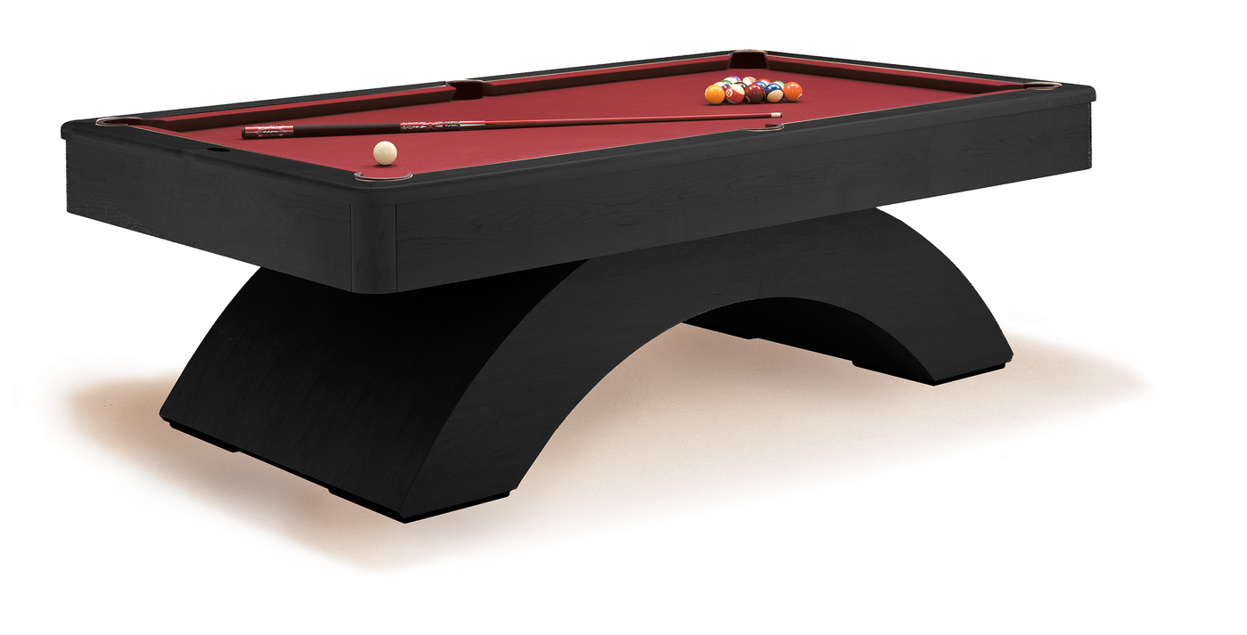 ... Olhausen Waterfall Pool Table Matte Black Lacquer ...