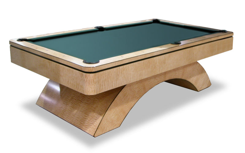 olhausen waterfall pool table quilted maple