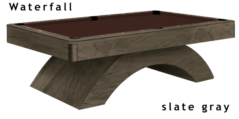 olhausen waterfall pool table slate grey