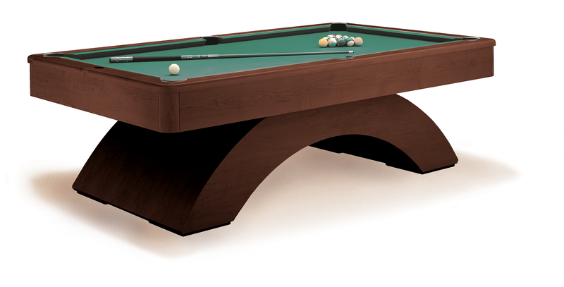 olhausen waterfall pool table traditional mahogany