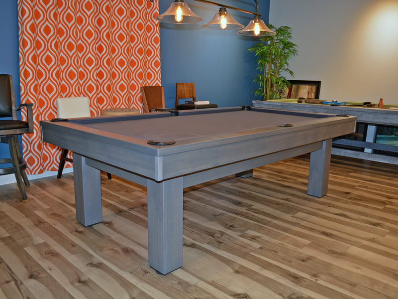 Olhausen West End Pool Table smoke grey showroom