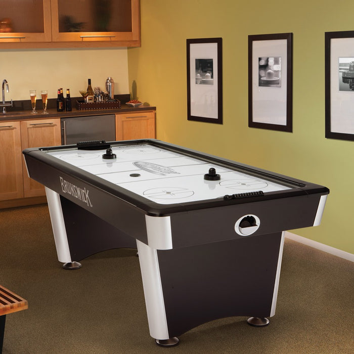 brunswick 7' wind chill air hockey table room