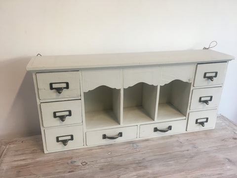 Wooden cabinet with drawers