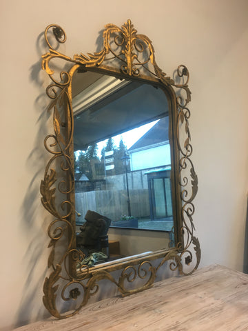 Gilt ornate mirror