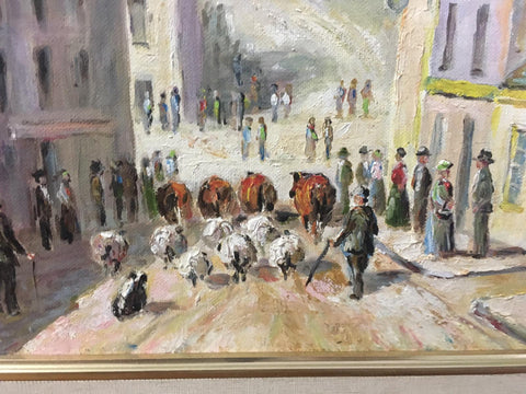 Painting of cushendall fair day