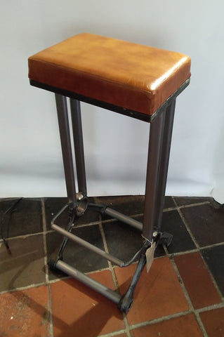 Industrial leather seat stool | Furniture