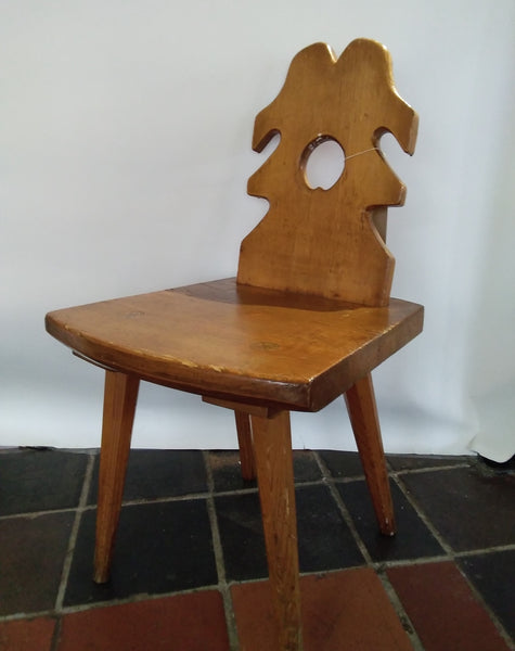 Folk art wooden chair   SOLD