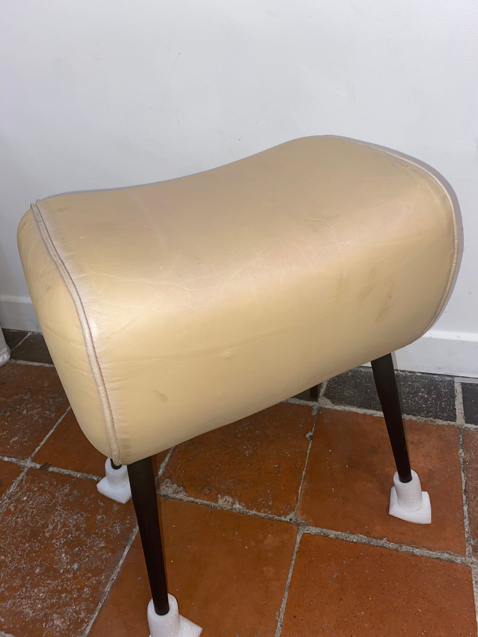 Real Leather Pommel Horse Inspired Stool.