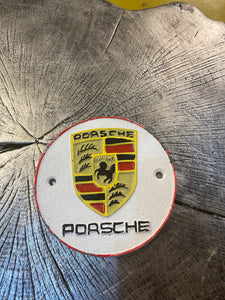 Porsche cast iron sign