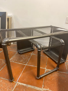 industrial set of side tables