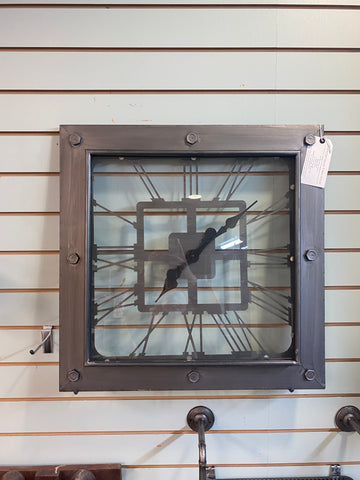 large industrial influenced wall clock