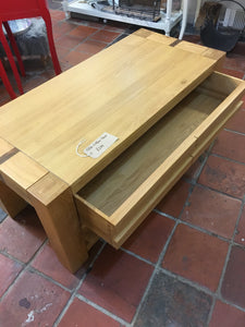 Coffee table with concealed storage drawer. LAST ONE in Buttermarket store
