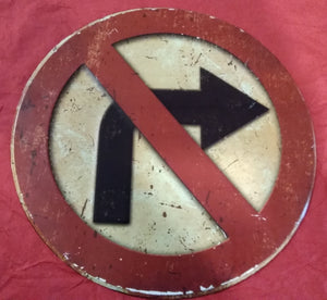 No Right Turn | Sign